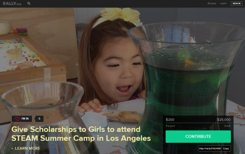 Support our Rally to empower girls through STEM.