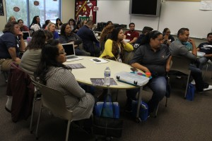Educators from numerous sectors engage in a workshop